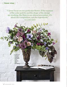 Flower Magazine Spring floral design by Sullivan Owen. LusciousQ