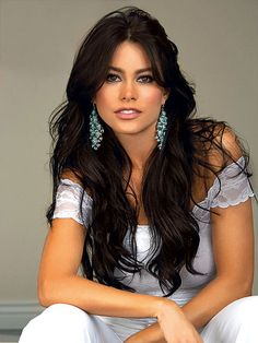 Long Dark Hair ~ I would love to have hair like this and have always wanted dark hair!