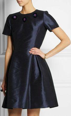 Embellished Two-Tone Dress