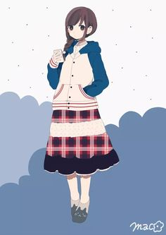 anime, girl, and blue image Anime Drawing Styles, Manga Drawing, Character Inspiration, Character Art, Character Design, Cute Characters, Anime Characters, Kawaii Illustration, Identity Art