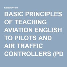 PDF article - Principles of teaching aviation English to pilots and ATC