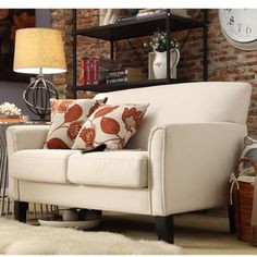 Uptown Modern Loveseat by TRIBECCA HOME | Overstock.com Shopping - The Best Deals on Sofas & Loveseats