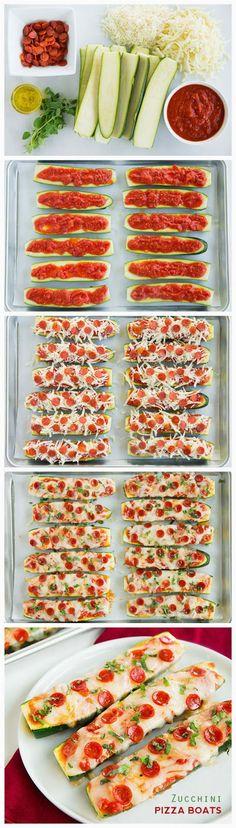Zucchini Pizza Boats - kitchenclouds