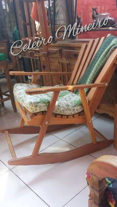 CELEIRO MINEIRO MÓVEIS Rústicos e Decoração : Cadeira Balanço em madeira demolição