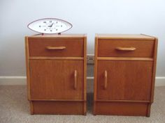 Fabulous Vintage G Plan Bedside Tables