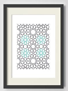 Geometric pattern, Rosettes, Arabesque, Islamic Art, Wall Art, Motif, Moroccan…