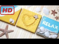 DIY: 3D Beach Canvas Wall Decor Ideas | Tara channel