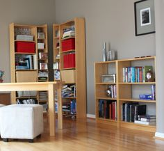 New Wall Storage Unit Billy Bookcases Ideas Ikea Billy Bookcase Hack, Built In Bookcase, Bookshelves, Billy Bookcases, Hemnes Bookcase, Bookshelf Styling, Home Office Design, Home Office Decor, Diy Home Decor