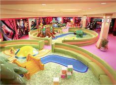 Fun Play Area for Kids : Contemporary Indoor Play Area Design Superhero Theme Interior