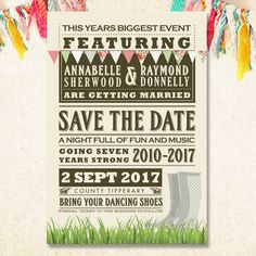 Festival themed save the date
