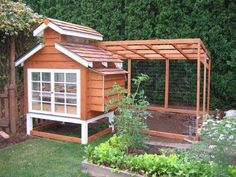 This is adorable. Would love to have one of these with chickens! :-)  Who's willing to make me one?! heee Small Chicken, Pergola Patio, Gazebo, Patios, Britain, Courtyards, Kiosk, Patio Decks