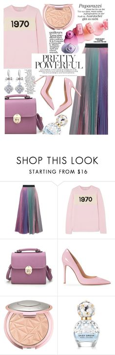 """Pretty Powerful: Yulia Logvinova Jewellery"" by trinirockstarr ❤ liked on Polyvore featuring Christopher Kane, Bella Freud, Zimmermann, Marc Jacobs, Rika, ootd, colorful, pastel and sweaterweather"