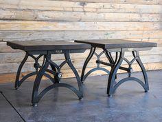 ... steel top industrialux is refined industrial this side table is has