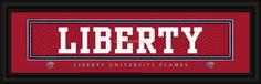 "Liberty University ""Flames"" Stitched Jersey Framed Print"