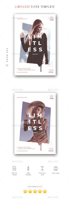 Limitless Flyer Template #sky #event • Download ➝ https://graphicriver.net/item/limitless-flyer-template/21353587?ref=pxcr