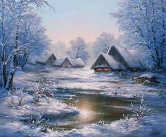 Cottages in a winter wonderland...