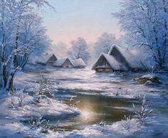 Cottages in a winter wonderland...