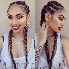 40 Simple Braid Styles Youll Ever Need To Master Braided hairstyles are very popular nowadays. I'm sure that when you were young, your mom put your hair in braids. Ghana Braids Hairstyles, Cool Braid Hairstyles, Braided Hairstyles For Black Women, African Hairstyles, Girl Hairstyles, Hairstyles 2018, Black Hairstyles, Hair Updo