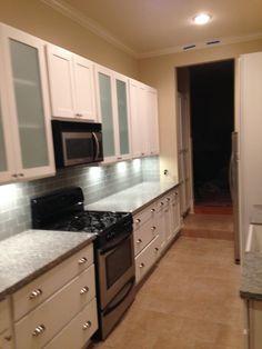 Create Photo Gallery For Website Glass doors white kitchen cabinets shaker beaded granite countertops