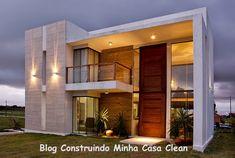 Construindo Minha Casa Clean: Fachadas de Casas Modernas e Iluminadas!