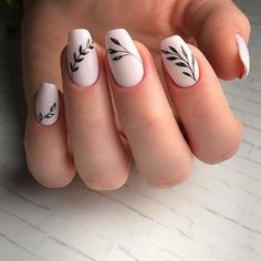 Nail art easy and trendy: ideas to celebrate the arrival of spring - Nails 02 Nail Art Ongles En Gel, Acrylic Nail Art, Nail Art Diy, Easy Nail Art, Cool Nail Art, Diy Nails, Cute Nails, Nail Nail, Floral Nail Art