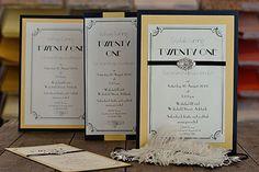 Gatsby Invitations Paper Flourish
