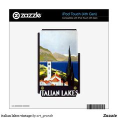 italian lakes vintage decals for iPod touch 4G