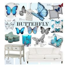 """Butterfly"" by kusja ❤ liked on Polyvore featuring interior, interiors, interior design, home, home decor, interior decorating, Seed Design, Pillow Decor, Matthew Williamson and Swarovski"