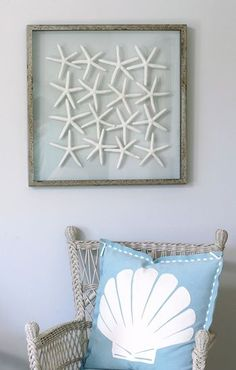 {Coastal Decor} ~ Star Fish Display ~ but with sand dollars becuz this is Washington lol