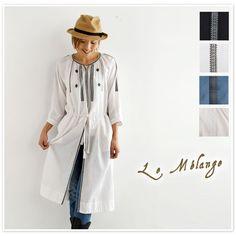 【Le Melange ル・メランジュ】刺繍 シャツ 前開き ワンピース (6713805)
