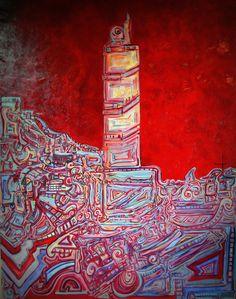 La Torre de Hércules, Oleo sobre tela 146x114 4500 euros