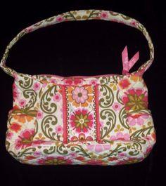 Vera Bradley Purse Pink Fl Boho Chic Zipper Handbag Folkloric Retired Sophie Verabradley Purseshoulderbag