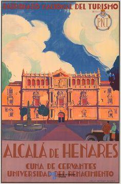 Poster de Turismo de Alcala de Henares del año 1920, en la Comunidad de Madrid, Spain Clique aqui http://mundodeviagens.com/promocoes-de-viagens/ para aproveitar agora Viagens em Promoção!