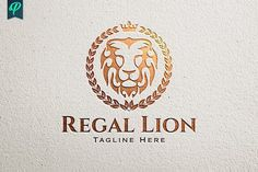 Regal Lion Logo Template by PenPal on @creativemarket