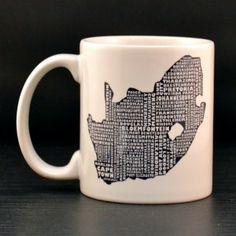 South Africa Mug - MapMyState.com