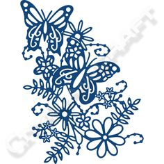 Tattered Lace Blossoming Butterfly Die (361980) | Create and Craft