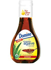 Organic Amber Agave Nectar: Domino Organic Amber Agave Nectar is a delicious liquid sweetener, with a low glycemic index, that is made from the blue agave plant.    Domino® Organic Agave Nectar is available in two distinct varieties: Light and Amber. Each variety comes in an 11.75 oz. or 23.5 oz. bottle.