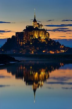 Mont St. Michel, France; also known as Hogwarts., via Flickr.