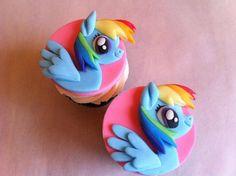 Magic Pony Character Cupcakes : My Little Pony Cake Design Rainbow Dash Birthday, Rainbow Dash Party, My Little Pony Birthday Party, Rainbow Cupcakes, Birthday Fun, Birthday Cake, My Little Pony Cupcakes, Cake Pops, Character Cupcakes