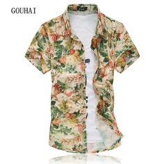 036b4730 shirt casual Picture - More Detailed Picture about 14 Colors 2017 Fashion Mens  Short Sleeve Silk Hawaiian Shirt Plus Size Summer Casual Floral Shirts Men  ...
