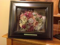 I love this preserved wedding bouquet with all the bling! Must do for my wedding! Suspended in time of layton Flower Preservation, How To Preserve Flowers, Preserves, Wedding Bouquets, Bling, Home Decor, Dry Flowers, Jewel, Decoration Home