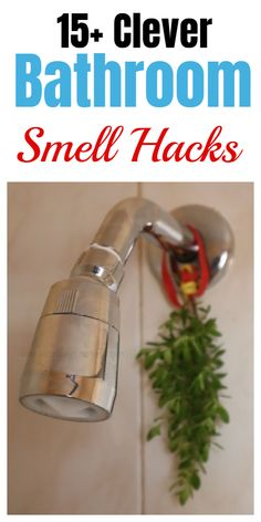 Ingenious tips and tricks for a better smelling bathroom. #smellhacks #homesmellhacks #cleaninghacks #householdhacks #cleaningtips #householdtips Bathroom Cleaning Hacks, Household Cleaning Tips, Laundry Hacks, Diy Cleaning Products, Cleaning Fun, Cleaning Items, Household Cleaners, Green Cleaning, Cleaning Solutions