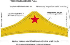 patterns for headband and wristbands for Wonder Woman costume