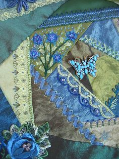 I ❤ crazy quilting . . .    Detail B/G. by Margreet from Holland