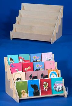 Larger plywood card display