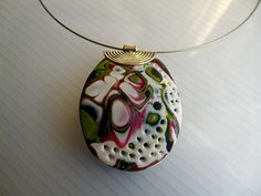 Mokume Gane textured pendants in white by ColoursofPaysCathare