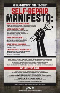 Not Buying Anything: Self-Repair Manifesto Monday