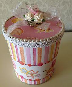 Randis hobbyverden: Gaveboks til baby i rosa