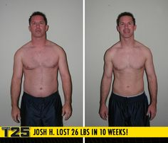 "Josh H. lost 26 lbs in 10 weeks of Focus T25! Congratulations Josh!! Way to #FOCUS and #GETITDONE!    ""With every week I got stronger, and with every weigh-in I became more motivated! I not only achieved my goals, but exceeded them in only 10 weeks!"""
