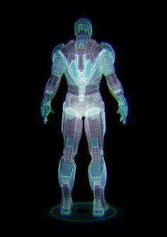 IRON MAN II hologram MarkIV by JOSE ORTIZ. Hologram animation concept test.